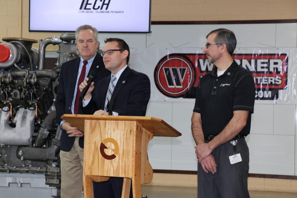 Diesel Tech Pathways program announcement on Jan. 23, 2019