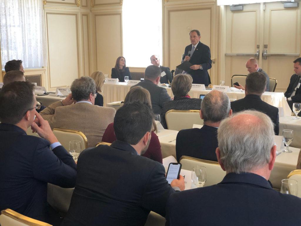 Gov. Herbert speaking with Utah Business leaders