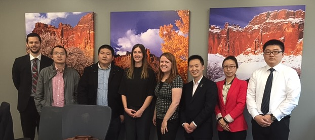 GOED's Kelleigh Cole, Kendall Rathunde, and Nathan Lambson with Broadband Delegation from China
