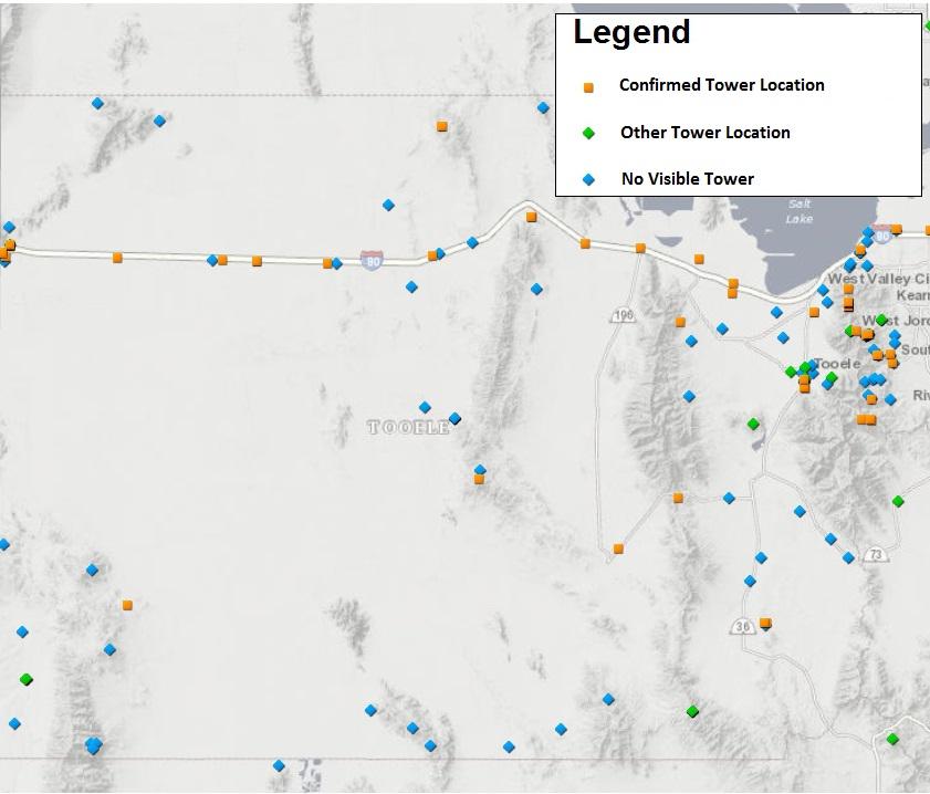 Utah Tower Locations Tooele Co