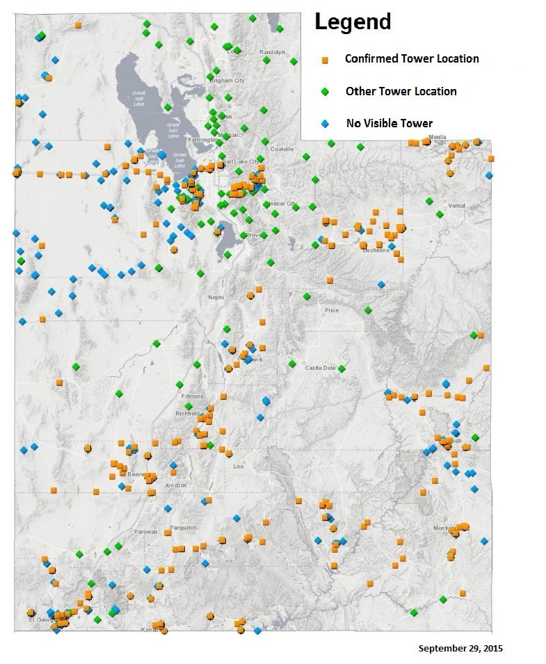 Utah Tower Locations